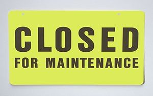 Indirect costs, closed for maintenance