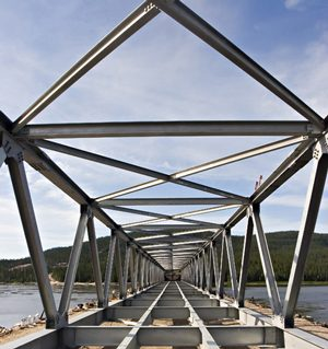Churchill River Bridge, Goose Bay Labrador, Newfoundland, Canada