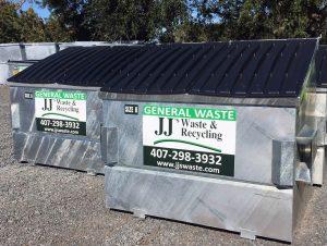JJ Waste's Dumpster