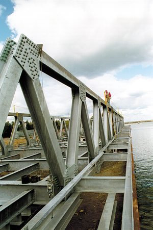 Hot-dip galvanizing bridges
