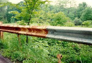 corroded guardrail