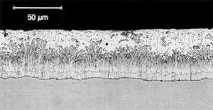 Micrograph of Typical zinc-iron Allow Layer