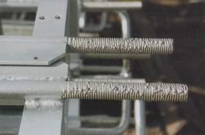 galvanized steel Clogged Threads (acceptable after cleaned)