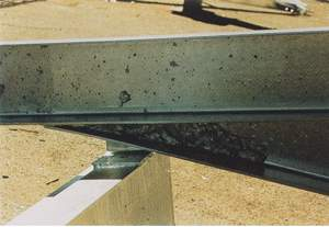 galvanized steel Dross Inclusions (acceptable unless large, and if removed, a bare spot is exposed)