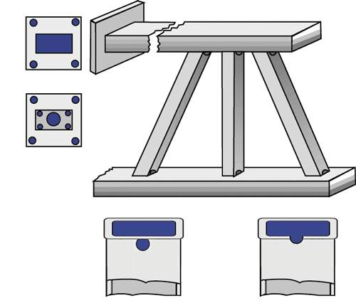 Rectangular Tube Truss with Horizontal End Plates