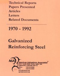 Galvanized Reinforcing Steel 1970 1192